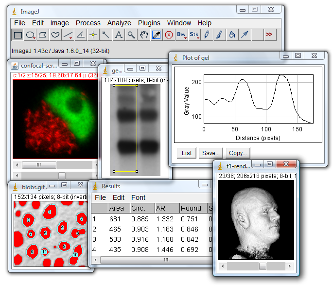 ImageJ full screenshot